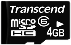 microSD Transcend 4Gb
