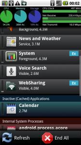 SystemPanel на Андроид