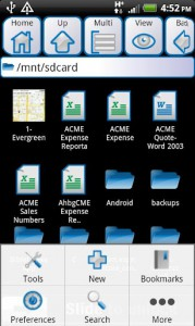 Astro File Manager для Асер