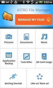 Astro File Manager для Acer на Android