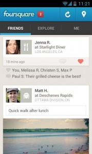 Социалка Foursquare для Асер