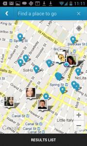 Карта Foursquare для Андроид