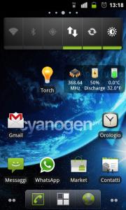 Рабочий стол Cyanogenmod на Acer Liquid Metal