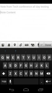 Evernote, добавление заметки
