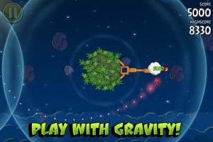 Angry Birds Space, гравитация!