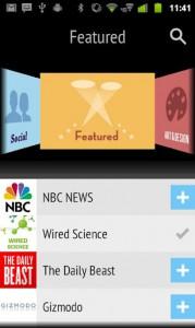 Pulse News для Асер на андроиде